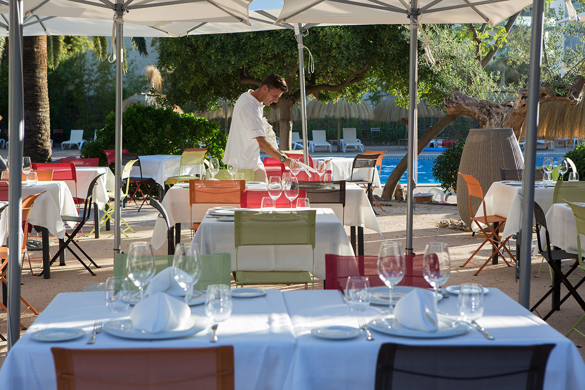 Exterior lounge | Sa Figuera Restaurant Soller